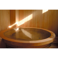 Hot spa at home, Japanese wooden freestanding bathtub with top frame B-1500 ( Distributors wanted )