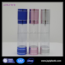 30ml 50ml 100ml 120ml Hot Selling Plastic /San /AS Cosmetic Airless Bottle,fancy cosmetic airless bottle for skin care