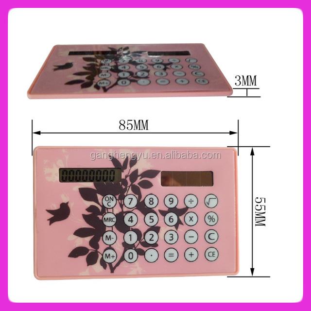 Promotional gift ultra thin card calculator ,pocket solar calculator