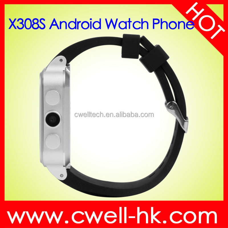 Android Wrist Hand Watch Mobile Phone, Bluetooth Smart Watch with factory touch screen hand heart Rate Watch Mobile Smart X308S