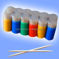 Wholesale Christmas Decorative Disposable Wooden Bulked Toothpicks