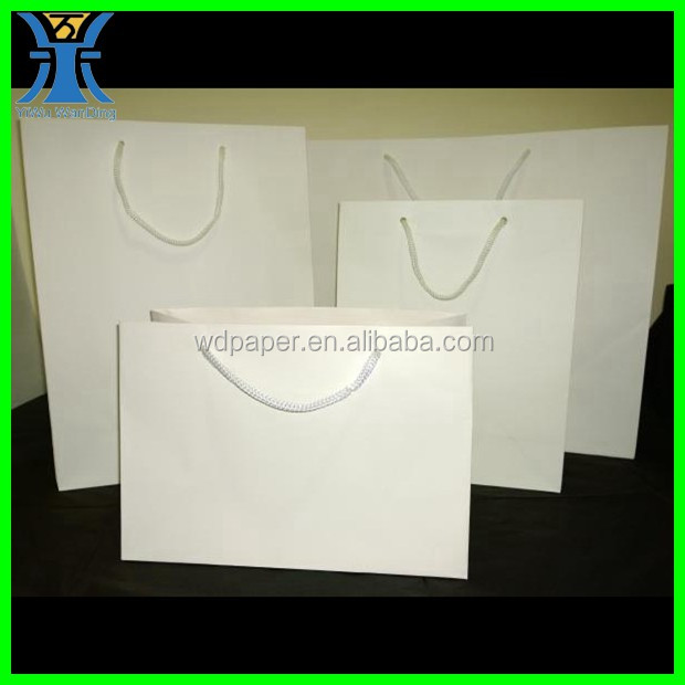 Yiwu New Arrived Cheap White Blank Large Craft Shopping bag Handmade Paper bag manufacturer