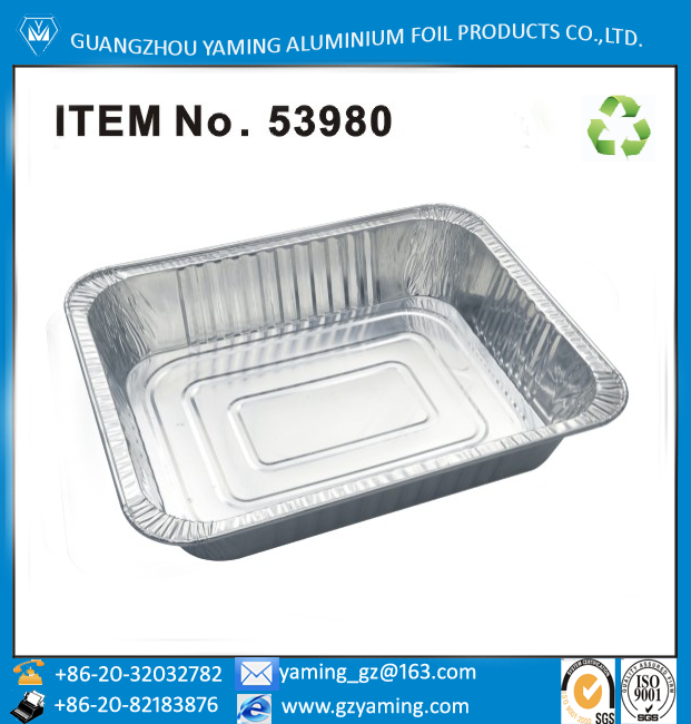 half size aluminium foil food steam table pan with lid