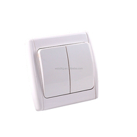 two gang one way electric light switch for hotel, home