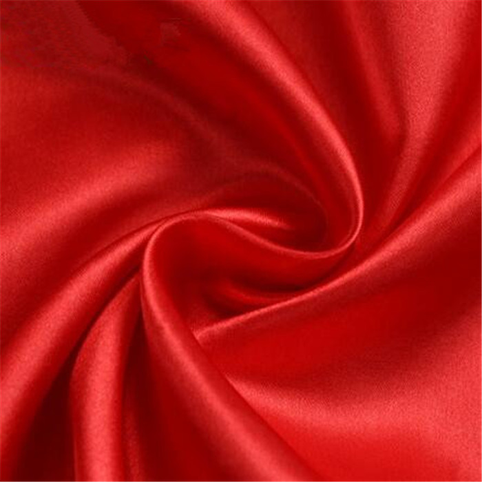 Plain color satin fabric polyester DIY handmade cloth wedding lining fabric wholesale