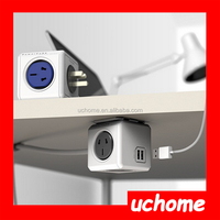 UCHOME power cube electrical wall socket usb 220v outlet