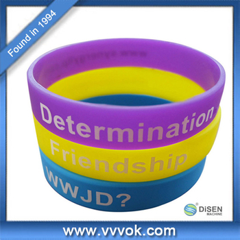 Customized Logo Custom Silicone Rubber Wristband