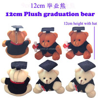 12cm the graduation teddy bear toy with coat and cap