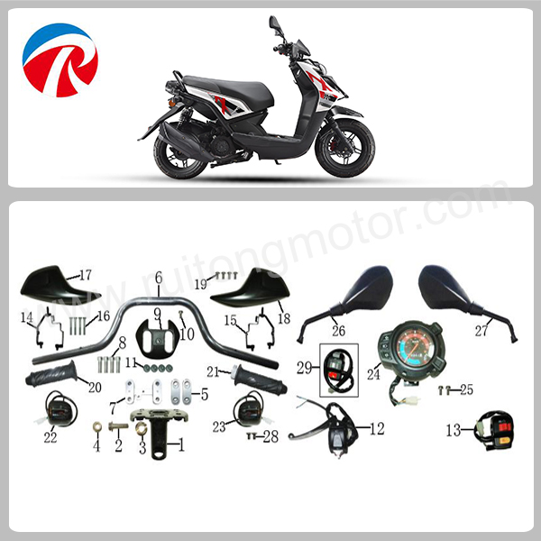 BWS III motorcycle scooter spare parts