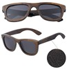 AW563 Tribe Brown Bamboo Polarized Sunglasses