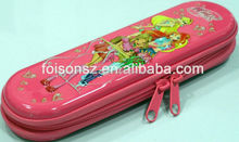 fational embossed tin pencil case with zipper