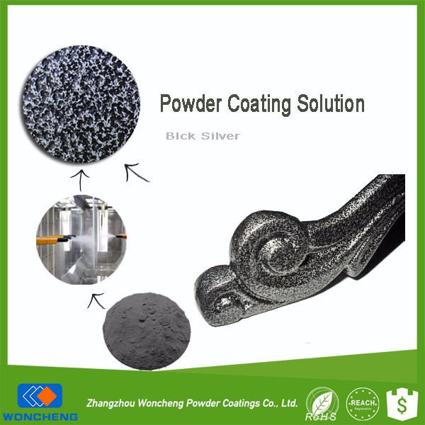 Hot Sale Antique Silver Metallic Effect Epoxy Polyester Powder Furniture Coating