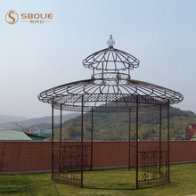outdoor decorative garden wrought iron gazebo