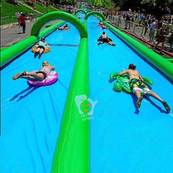 custom 1000 ft slip n slide inflatable slide the city