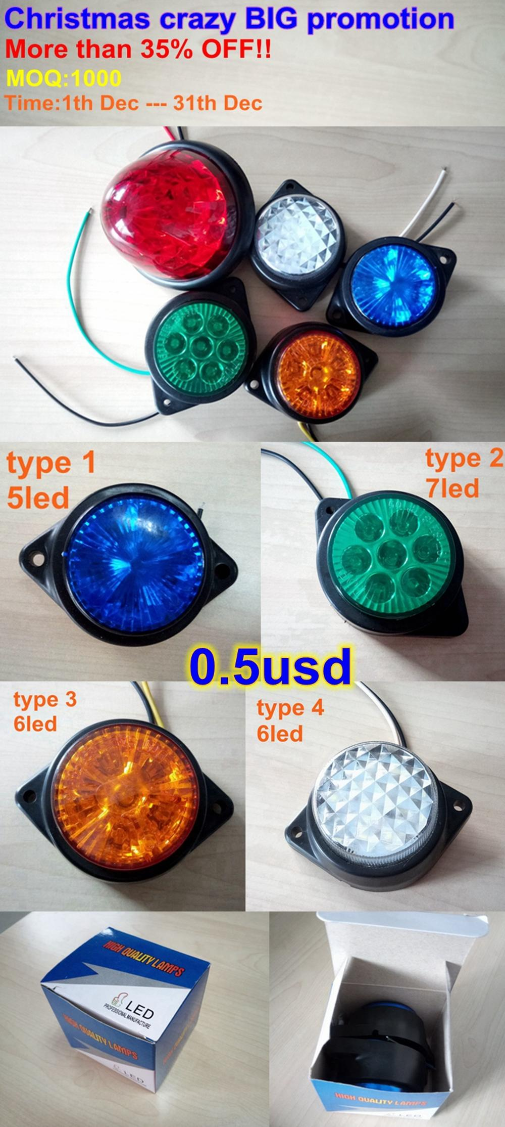 High quality truck led lights 24V/12 truck side light with E-Mark