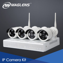 kit ip 4ch full hd 2mp 1080p, wifi range up to 100meters between the camera and NVR