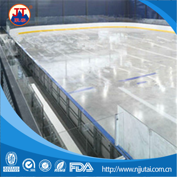 Synthetic ice hockey shooting rink skating fence barrier
