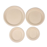 Sugarcane fiber Plate Eco-friendly Biodegradable compostable bagasse thicken disposable round plate