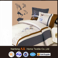 100%cotton famous brand embroideried comforter sets