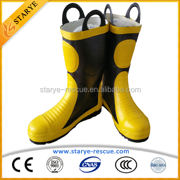 Fireman Using Corrosion Resistance Rubber Material Fire Safety Boots