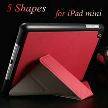 NEW 2016 Smart Style Protective Waterproof Shockproof Colorful Quality PU Leather for Ipad Cover Case for Ipad Mini