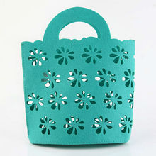 INTERWELL BR24 Promotional Item, New Design Cyan Felt Tote Bags