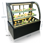 High quality cured glass cake showacse/cake display showcase/cake displlay cabinet