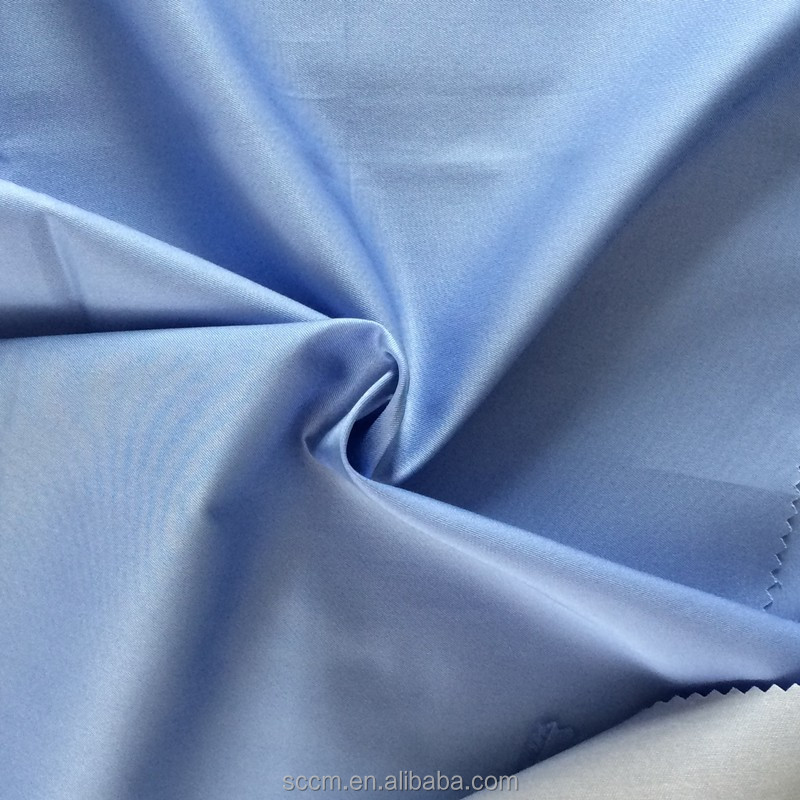cotton dacron blend cvc poplin shirting fabric