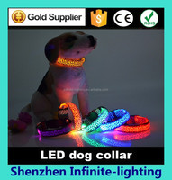 Super brightness led dog harness/led dog harness nylon dog harness