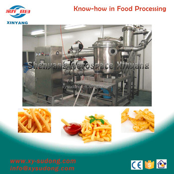 Automatic French Fries vacuum fryer machine process