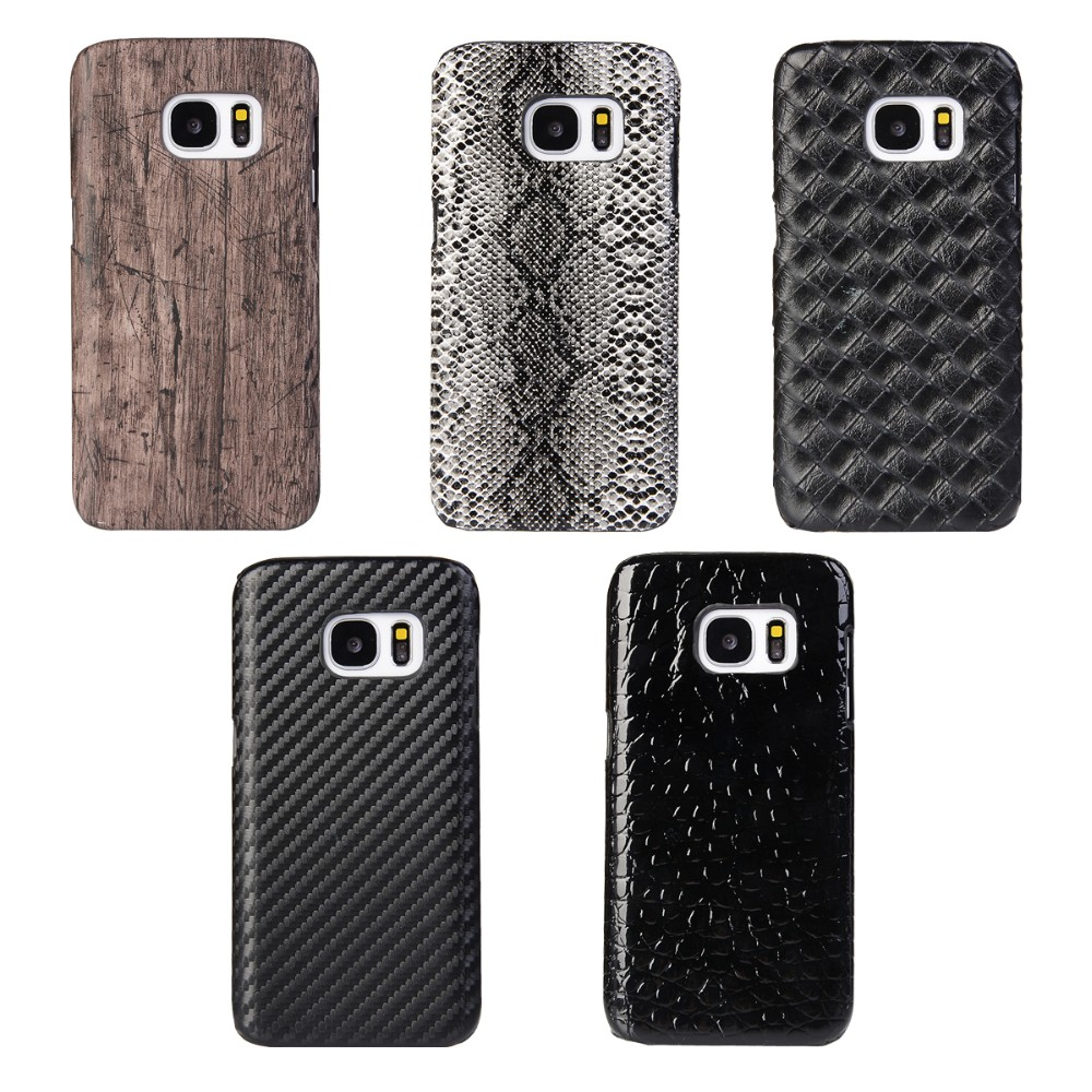 Wood/ Snake/Weave/Carbon Fiber/Crocodile Pattern Leather Mobile Phone Case for Samsung Galaxy Note 5