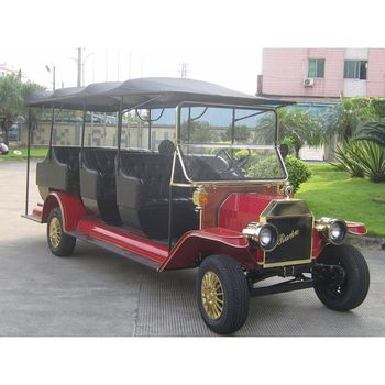 Luxury classic model 5KW sightseeing electric shuttle bus golf cart