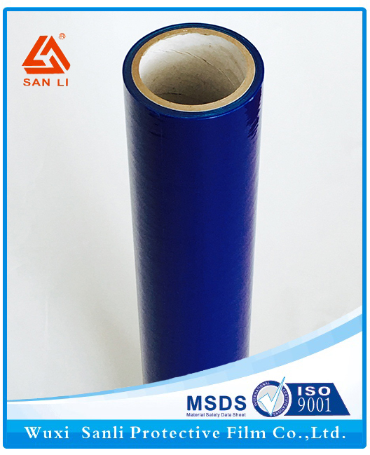 Reliable and Cheap blue plexiglass pe cling film hot foil