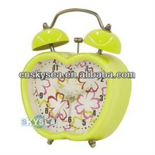 Apple shaped alarm clock with light
