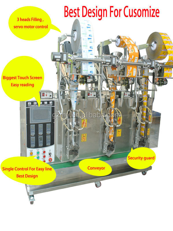 3 line powder packing machine detail
