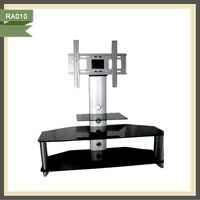 New design lcd tv base stand bracket tv cabinets wall units RA010