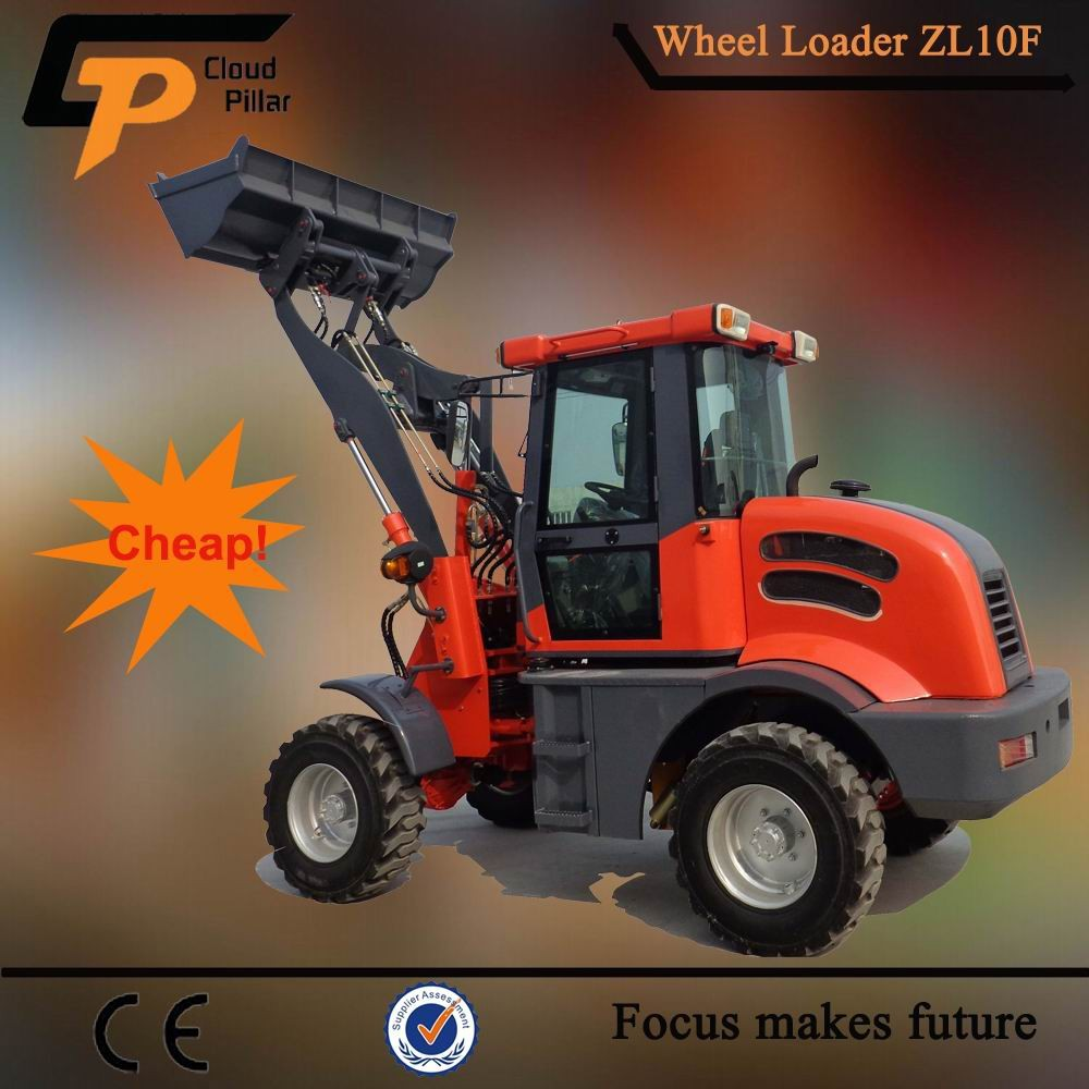 chinese one ton bucket loader zl 10 micro wheel loader with attachment