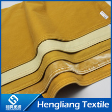 Knitted denim fabric elastic comfort breathable denim fabric color tie tie mustard yellow ribs