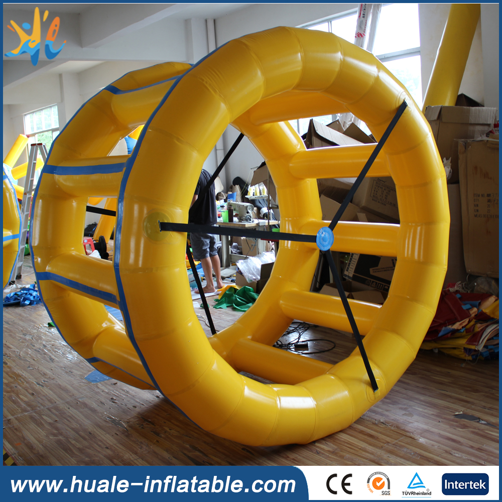 Water inflatable wheel/inflatable rolling wheel summer water toy for water games