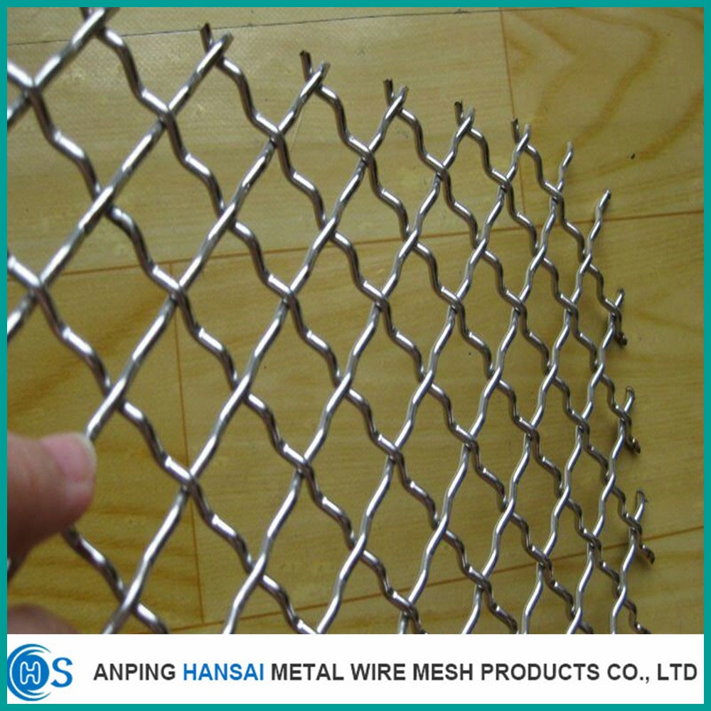 Top quality stainless steel and galvanized crimped wire mesh for mining