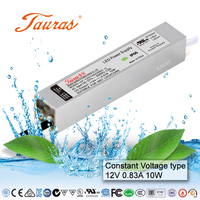 UL list waterproof 10w led driver 12v/24V