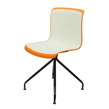 Double injection 2 color powder coated legs restaurant dining chair
