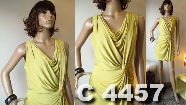 Short Dress - Polyester stretchy - C4457