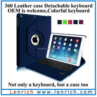 LBK138 for ipad air 5 360 swivel rotating removable bluetooth keyboard case Made in China NEW product keyboard bluetooth swedish