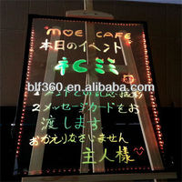 Transparent LED Writing Board Sign
