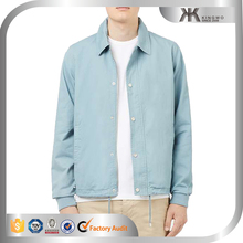 Cotton long sleeve light blue denim jackets men shirts