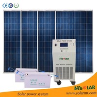 pv solar panel 3kw thin film solar electricity generating system for home