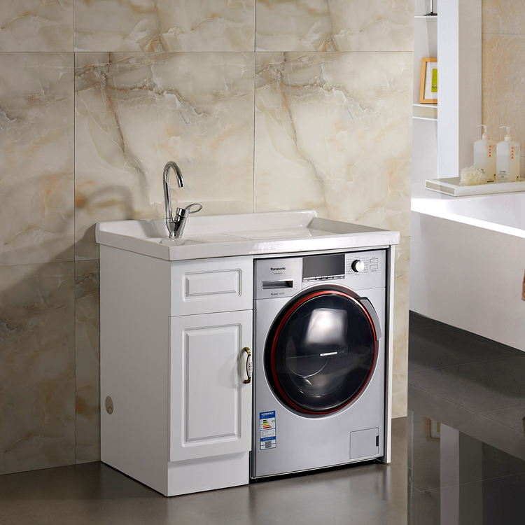 Customized Household Floor Mounted Washing Machine Cabinet