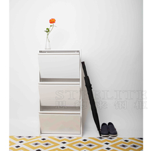 High Quality Metal Shoe Storage Cabinet, Cabinet Style 3 Layer Shoe Rack With Cover