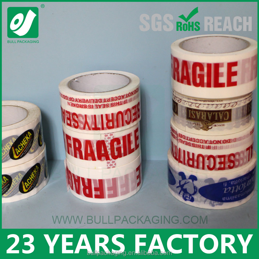 23 Years Factory Strong Adhesive Custom Logo Printed Bopp Packing Tape With Company Logo